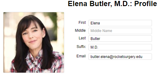 Screenshot with candidate profile information.