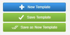 screenshot of template menu options