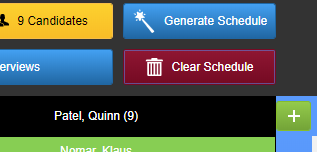 screenshot of generate and clear buttons.