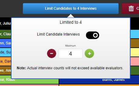 Screenshot of limit menu.