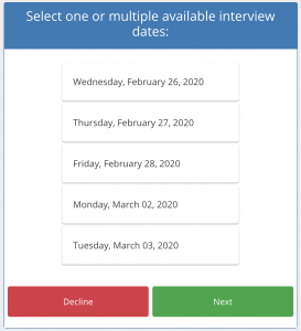 Candidate Date Selection Tool